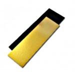 Black/Gold Rectangular Yule Log Cake Board - 25 x 12cm - 50pcs