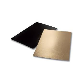 Black/Gold Full Sheet Rectangular Cake Board - 60 x 40 cm - 16'' x 24'' - 50pcs