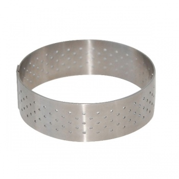 De Buyer Stainless Steel Perforated Tart Ring - 3/4'' High Round Ø 2''