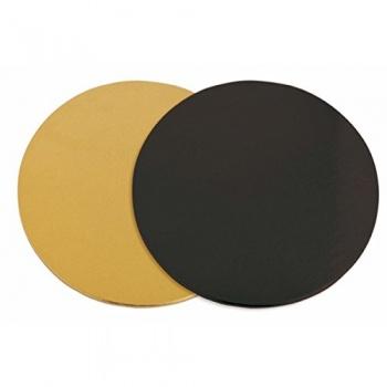 Round Double Sided Black / Gold Cake Boards - Ø 24 cm - 100 pcs
