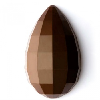 Polycarbonate Chocolate Mold Diamond EGG - Ø160 - Height: 260 mm - 240 gr - 1 cav - 360x195x80 mm