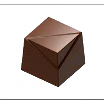 Polycarbonate Chocolate CUBE Indented Mold - 20x20x18 mm - 8 gr - 3x7 cav -135x275x24mm