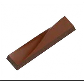 Polycarbonate Chocolate Mold Wavy Bar - 114x26.50x12 mm - 40 gr circa - 1x7 cav - 175x275x12 mm