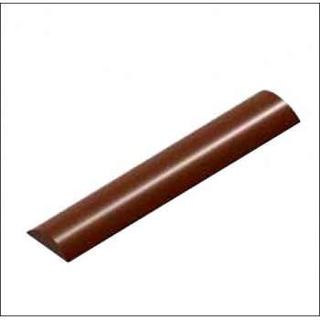 Polycarbonate Chocolate Mold Flat Elegant Bar - 125x254x6 mm - 14 gr circa - 1x8 cav - 175x275x12 mm