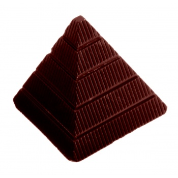 Polycarbonate Pyramid Chocolate Mold 31x31x29 mm - 21 Cavity - 13gr - 275x135x32mm