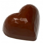 Polycarbonate Chocolate Origami Faceted Heart Molds - 36 x 19.5 x 19 mm - 13 gr - 3 x 7 Cavity - 275 x 135 x 24 mm