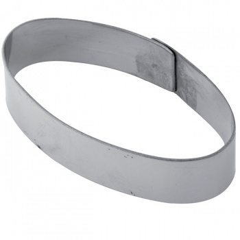 Stainless Steel Oval Tart Rings Height: 3/4'' - 44 x 82 x 20 mm