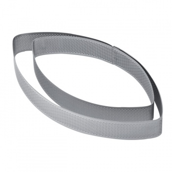 Microperforated Stainless Steel Pointy Oval Rings - 270 x 145 x 35 mm
