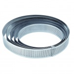 Microperforated Stainless Steel Deep High Round Tart Ring - Ø 21 cm - 35 mm Height