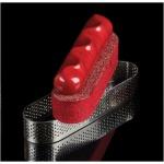 Pavoflex Long Finger Oval Tart Tops Silicone Molds SAND - 115 x 24 x 20mm - 10 Cavity - 38 ml - 300 x 175 mm