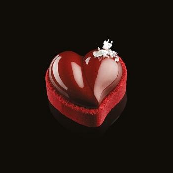 Pavoflex Heart Tart Tops Silicone Molds HEART - 65 x 60 x 21 mm - 8 Cavity - 46 ml - 300 x 175 mm