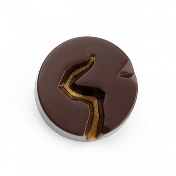 Pavoni Polycarbonate Chocolate Mold - ABYSS by DAVIDE COMASCHI - Round - 18 Cavities - Ø 33 x 12.5 mm - 10gr - 275 mm x 135 mm
