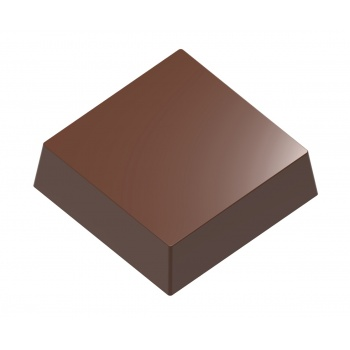Magnetic Polycarbonate Chocolate Mold Square Bar - 24 x 24 x 14 mm - 4x6 pc - 9.50 gr - 275x135x24 mm