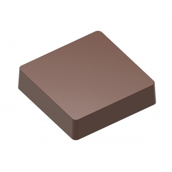 Magnetic Polycarbonate Chocolate Flat Square Mold 39 x 40 x 9 mm - 4x3 pc - 16 gr - 275x135x24 mm