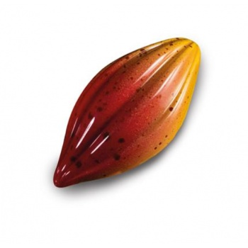 Polycarbonate Cocoa Bean Pod Chocolate Praline Mold - 52 x 26 x14 mm - 21 Cavity - 9 gr.