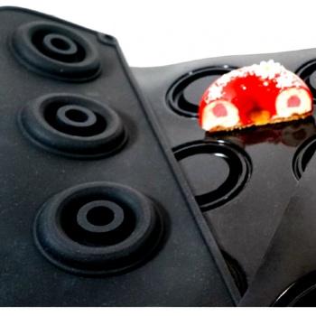 Sasa Demarle Flexipan Inspiration 3D Ring INSERT Entremet Mold - 2.4'' Diam. - 0.37 oz - 24 Indents - 400 x 600 mm