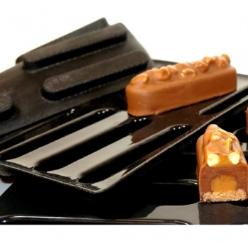 Sasa Demarle Flexipan Inspiration Lounge INSERT Entremet Mold - 4.72'' x 0.78''x 0.51'' - 0.98 oz - 36 Indents - 400 x 600 mm