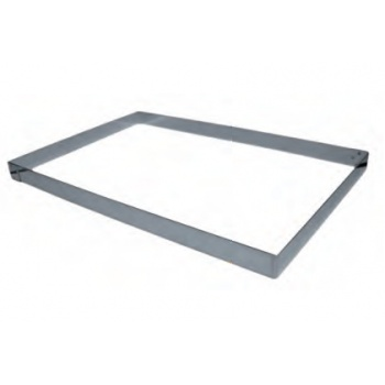 Half Size Pastry Frame Sheet Pan Extender - 300 x 400 mm x 50 mm