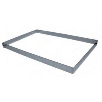 Half Size Pastry Frame Sheet Pan Extender - 300 x 400 mm x 50 mm