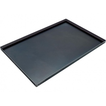 French Full Size Blue Steel Straight Edges Sheet Pan - 60 x 40 cm - 2 cm