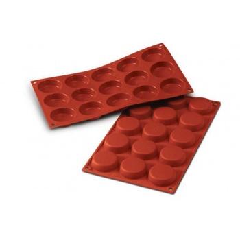 Silikomart Cylinders Silicone Molds - Ø 50 x 14 mm - 15 Cavity