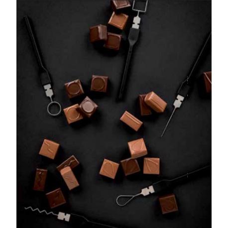 Matfer Bourgeat 8 Pieces Set of Decorative Chocolate Forks