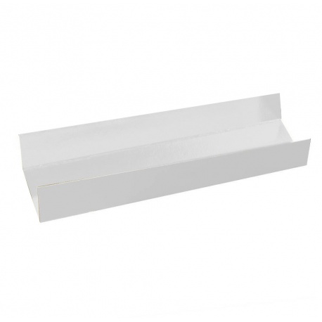 Deluxe Rectangular Individual Monoportion Folded Boards - White Inside White Outside 13 x 4 cm - Pack of 250