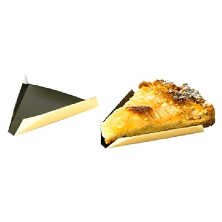 Triangular Monoportion Pastry Tray Gold / Black - 90 x 110 mm - 3.55''x 4.3'' - 200 pces