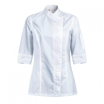 Women's INTUITION Chef's Jacket - Long or Short Sleeve (Black or White)