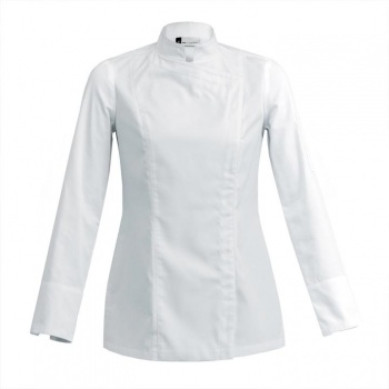 Women's SIENNE Chef's Jacket -Long or Short Sleeve (Black or White)