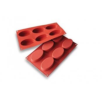 Silikomart Silicon Flex Silicone Mold - Large Ovals - 6 cavity