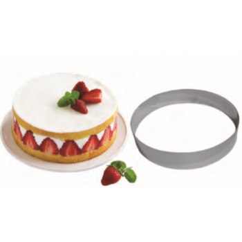 Stainless Steel Mousse Entremet Ring - 16cm x 4cm