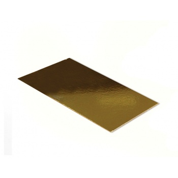 Gold/White Rectangular Cake Board - 24.5cm x 10.5cm - 50pcs