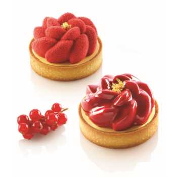 Silikomart Professional KIT TARTE RING FLEUR Ø 80 mm Kit Mold by Christophe Michalak - 80 x 20mm - 90ml - 6 imprint mold