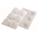 Silikomart Professional KIT 6 Flower Kit Mold - 80 x 20mm 90ml - 6pcs with 1 - 6 imprint mold