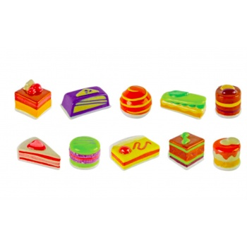 Assorted Feves Cakes Charms - Pack of 50