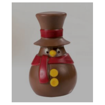 Christmas Winter Snowman Thermoformed Chocolate Mold - 64x70 h110mm