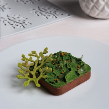 Pavoni BONSAI Decoration Silicone Mold - 80x55x2mm - 3ml - 8 imprints