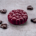 Pavoni Professional Entremet Heart Love Silicone Mold - EROS - 179 x 178 x 48 mm - 1022 ml