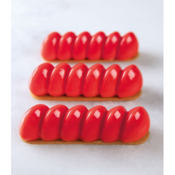 Pavoflex DOMINO Professional Silicone Molds - 126x33x32mm - 80ml - 14 imprints - Antonio Bachour