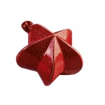 Christmas Decoration Thermoformed Chocolate Molds - Christmas Star Bulb - 62x69mm 26gr