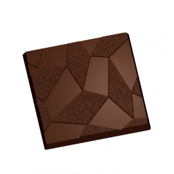Polycarbonate Geometric Tablet Chocolate Mold - 80x80x7.5mm - 2x3 Cavity - 275x175x24mm - 50gr