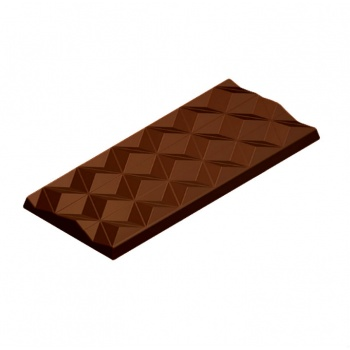 Polycarbonate Geometric Tablet Chocolate Mold - 150x66x10mm - 3x1 Cavity - 275x175x24mm