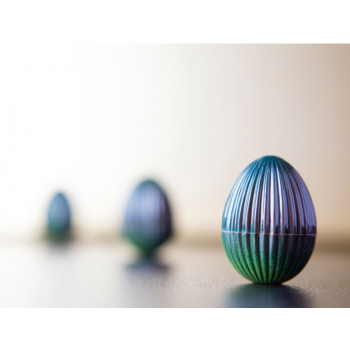 Polycarbonate Glossy Chocolate Faceted Egg Mold 29x21x10 mm - 7x5 pc - 4 gr - 275x135x24mm