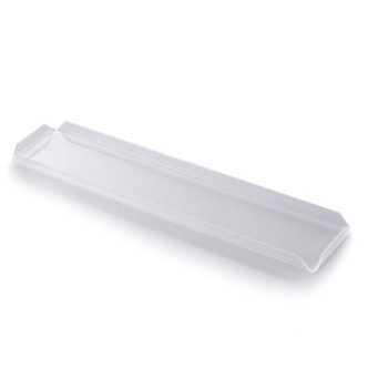 Clear Long Rectangular Polycarbonate Display Shelf for Chocolates - 9.5 x 49.5 x 0.2 cm