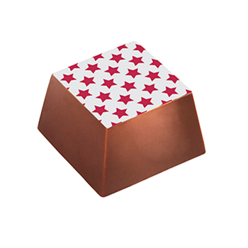 Chocolate Transfer Sheets - Red Stars - 123x263mm - 60 sheets