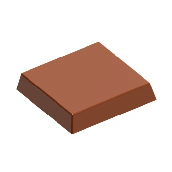 Polycarbonate Chocolate Mold Square with Crown - 26x26x16 mm - 3x8 pc -12 gr - 275x135x24mm