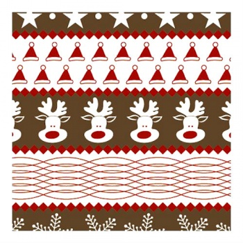 Chocolate Transfer Sheets - Christmas Reindeer and Snowflakes - 123x263mm - 60 sheets