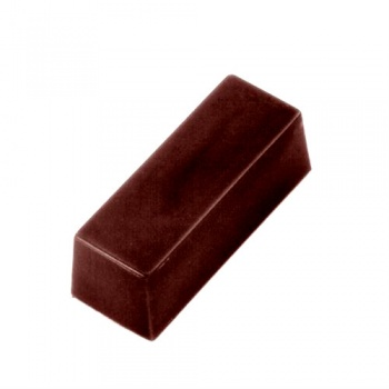 Polycarbonate Small Long Block Chocolate Mold - 37x15x13mm - 8gr - 7x6 cavity layout