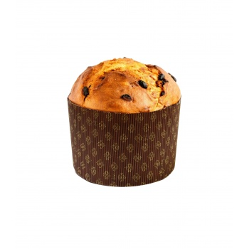 "Deluxe Corrugated Round Traditional High Style Panettone (Panettone Alto) - 6 1/16"" x 4 3/16"" - 12 pcs"